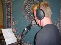 Simon doing the vocals